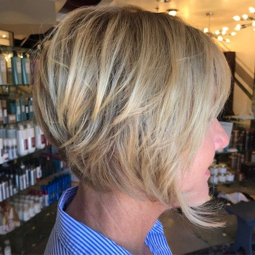 Pelenai Blonde Layered Bob Over 50