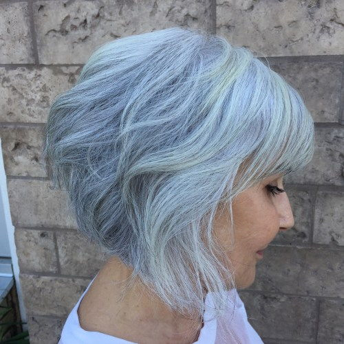 Apverstas Blue Gray Bob Over 50