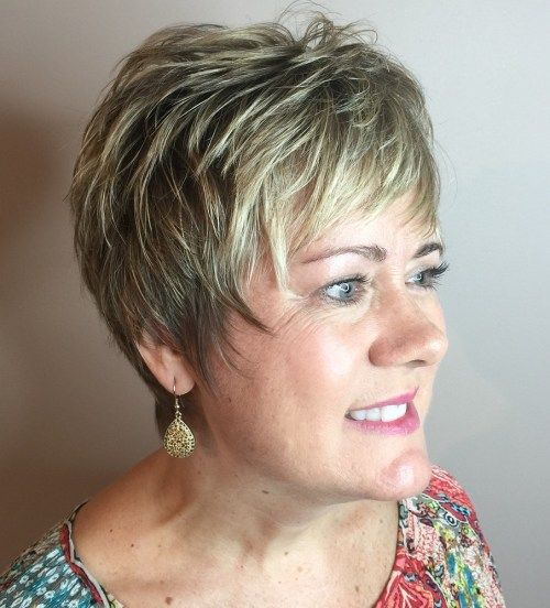 Trumpa Layered Pixie Over 50