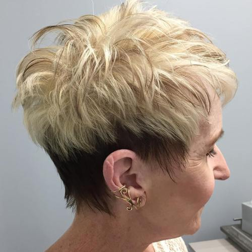 Ruda And Blonde Pixie For Women Over 50
