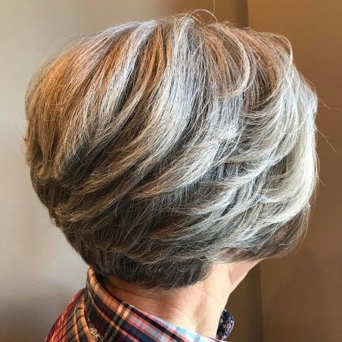 50+ Layered Short Bob