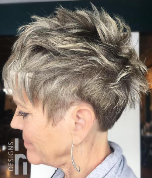 50+ Short Choppy Pixie