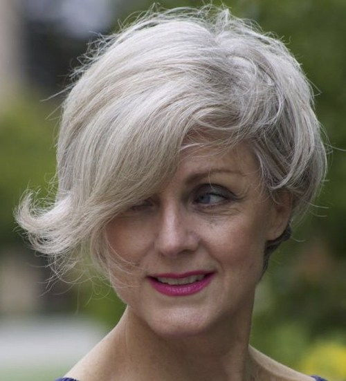 Trumpa Gray Hairstyle For Women Over 50