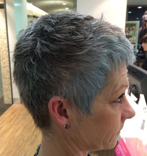 Trumpa Gray Pixie For Straight Hair
