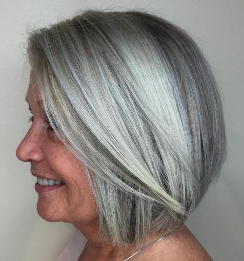 Tiesiai Silver Bob For Older Women