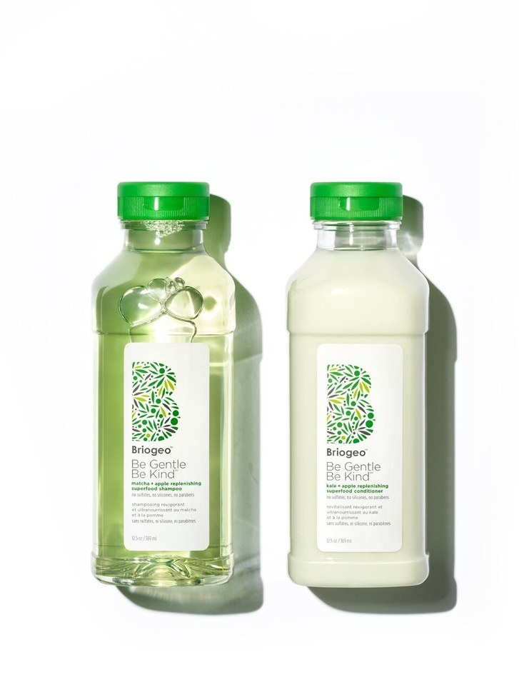 Briogeo Be Gentle, Be Kind Matcha + Apple Replenishing Superfood Shampoo and Kale + Apple Replenishing Superfood Conditioner