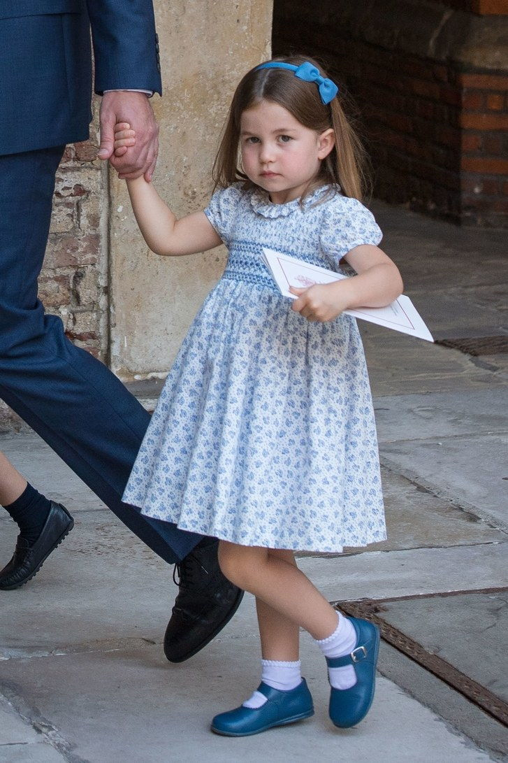 Princas Charlotte at the Christening of Prince Louis