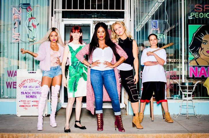 TNT Claws cast Karrueche Tran, Carrie Preston, Niecy Nash, Jenn Lyon, Judy Reyes