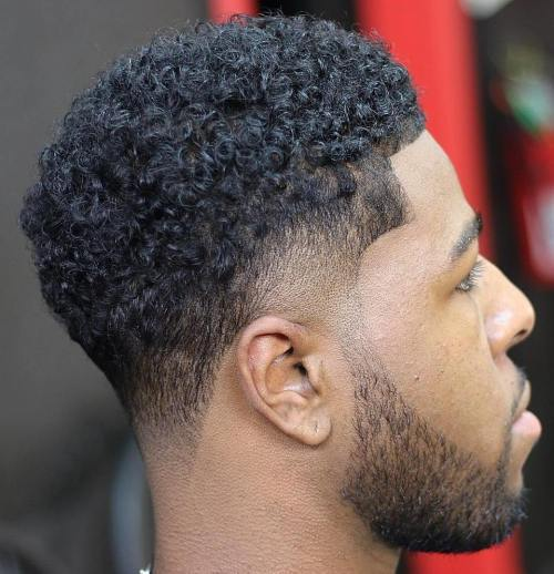 Garbanotas Cut With Temple And Nape Fade