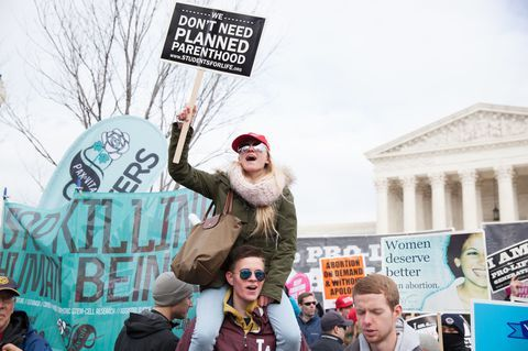 protestuotojai at the march for life rally 2017