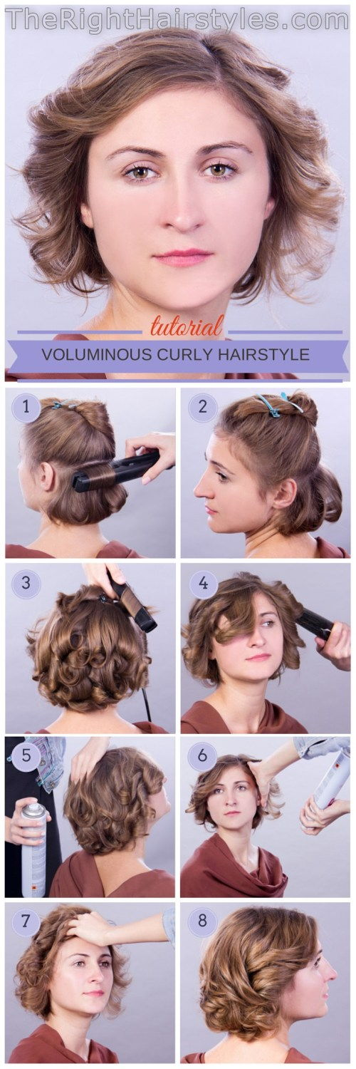 קצר curly hairstyle tutorial