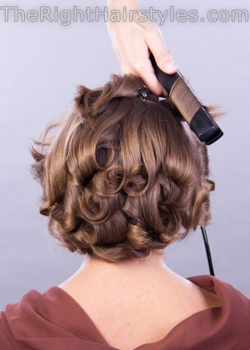 אֵיך to curl short fine hair