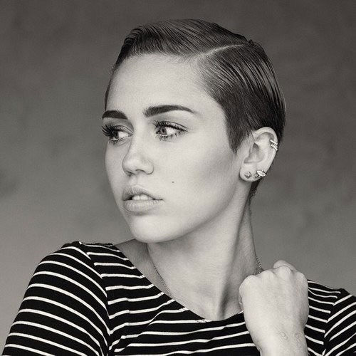 Miley Cyrus short gelled hairstyle