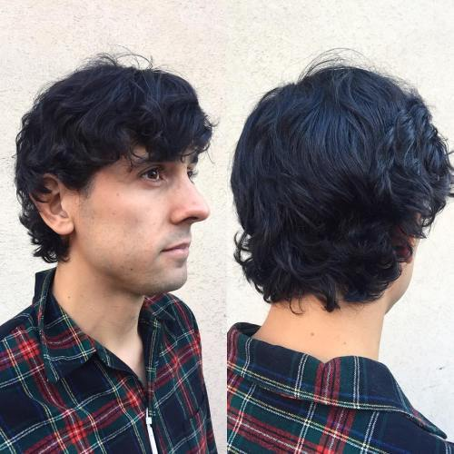 Shaggy Mullet for Wavy Hair