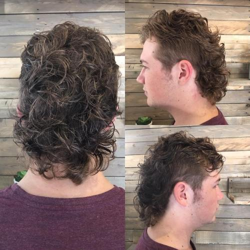 shaggy mullet for curly hair