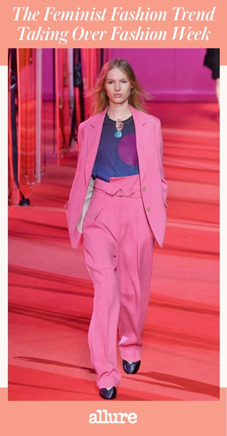 Pink Pantsuits: The Feminist Fashion Trend Taking Over Fashion Week