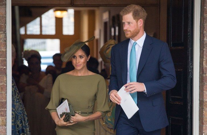 Meghanas Markle and Prince Harry at the Christening of Prince Louis