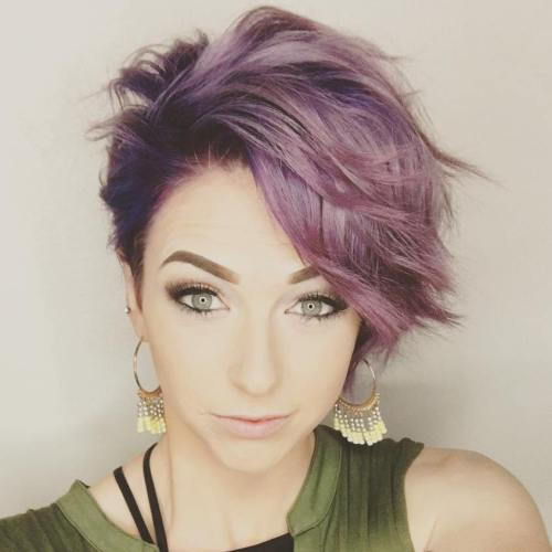 קצר Pastel Purple Hairstyle