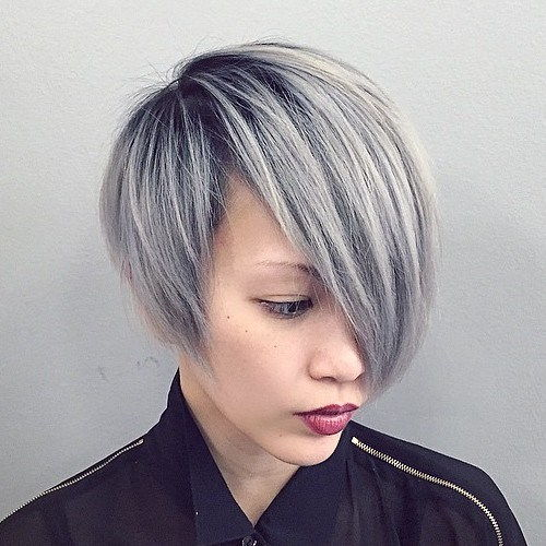 אֵפֶר Blonde Asymmetrical Bob