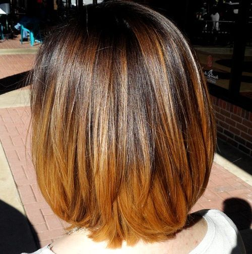 tamsi brown to chestnut ombre for medium hair