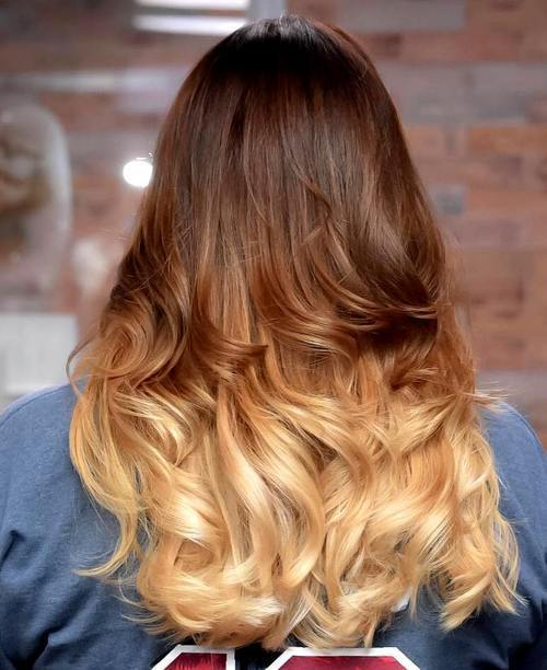 ruda to blonde long ombre